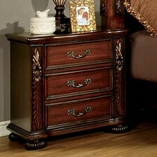 Flandreau 3 Drawer Nightstand by A&J Homes Studio