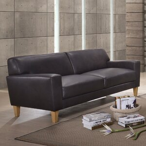Debusk Leather Sofa by Mercury Row