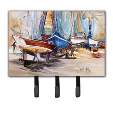 On The Hill Sailboats Key Holder by Caroline's Treasures