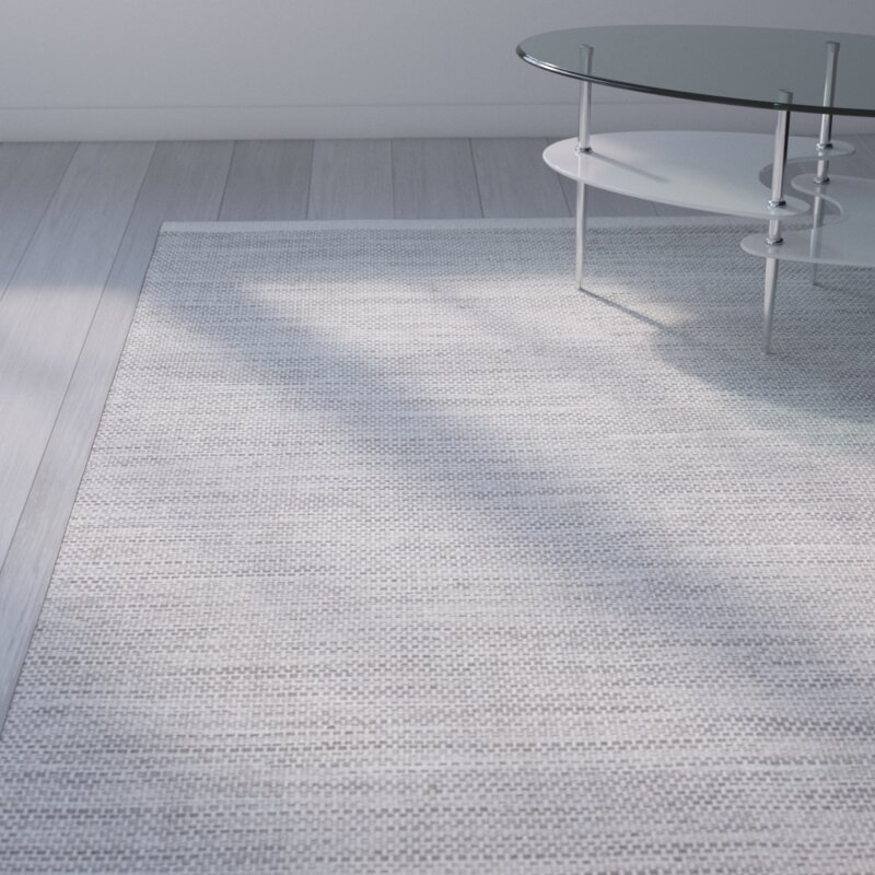 Wade Logan Hand Woven Ivory Grey Area Rug Amp Reviews Wayfair