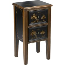 2 Drawer Chinoiserie End Table by AA Importing