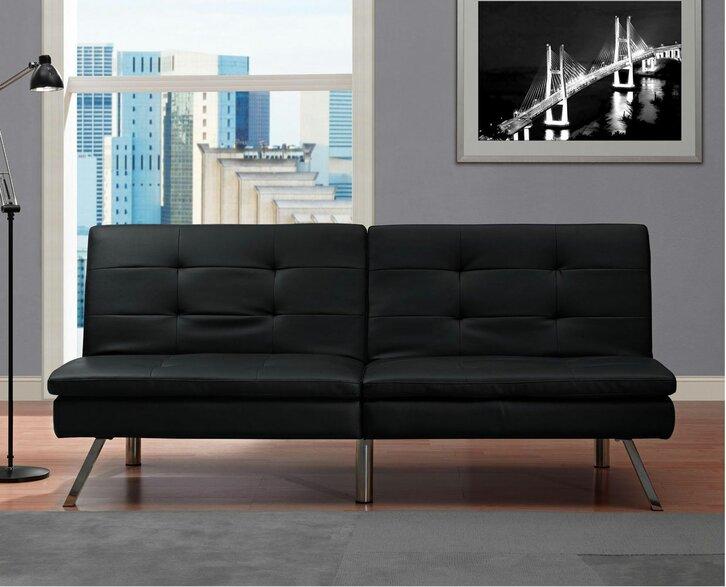 futons sleepers you 39 ll love wayfair. Black Bedroom Furniture Sets. Home Design Ideas