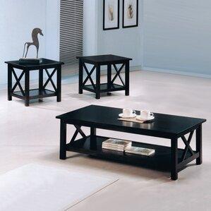 mahogany coffee table sets you'll love | wayfair