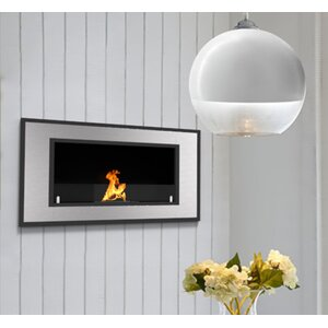 Maybelle Ventless Built in Recessed Wall Mounted Glass Bio-Ethanol Fireplace Insert by Orren Ellis
