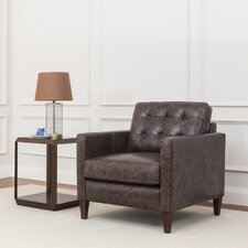 Rockport Leather Club Chair by Latitude Run