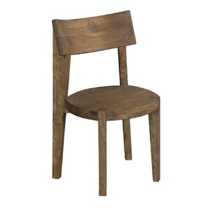 Adams Light Brown Solid Wood Dining Chair (Set of 2) by Union Rustic
