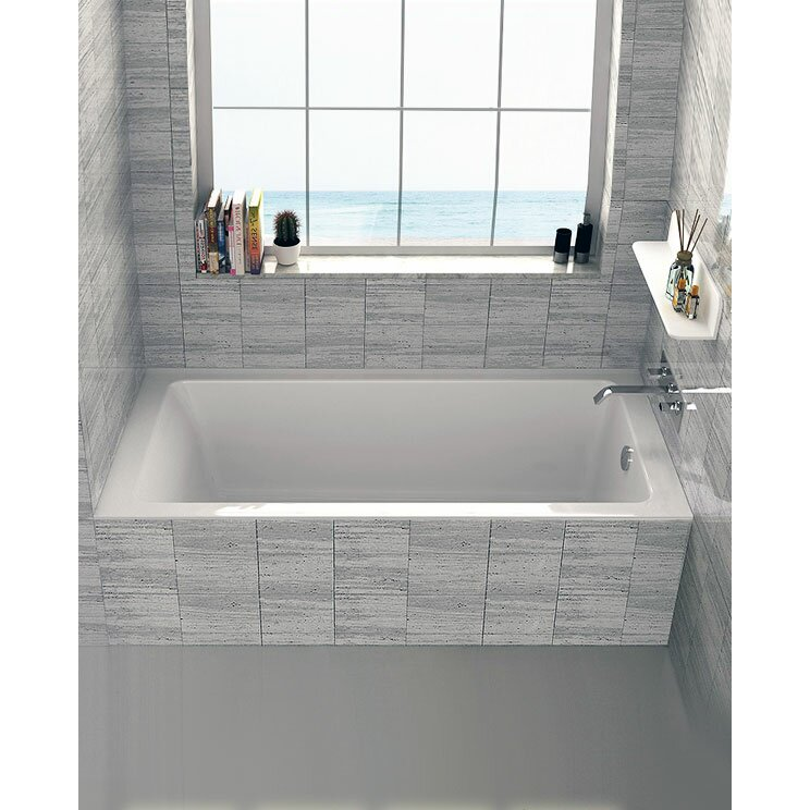 Fine fixtures drop in or alcove 32 x 60 soaking bathtub for Alcove bathtub dimensions