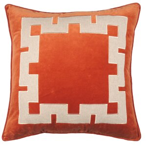 aegean key throw pillow