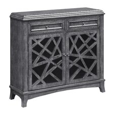 Eaves Crazy Cut Door 2 Drawer Accent Cabinet by World Menagerie