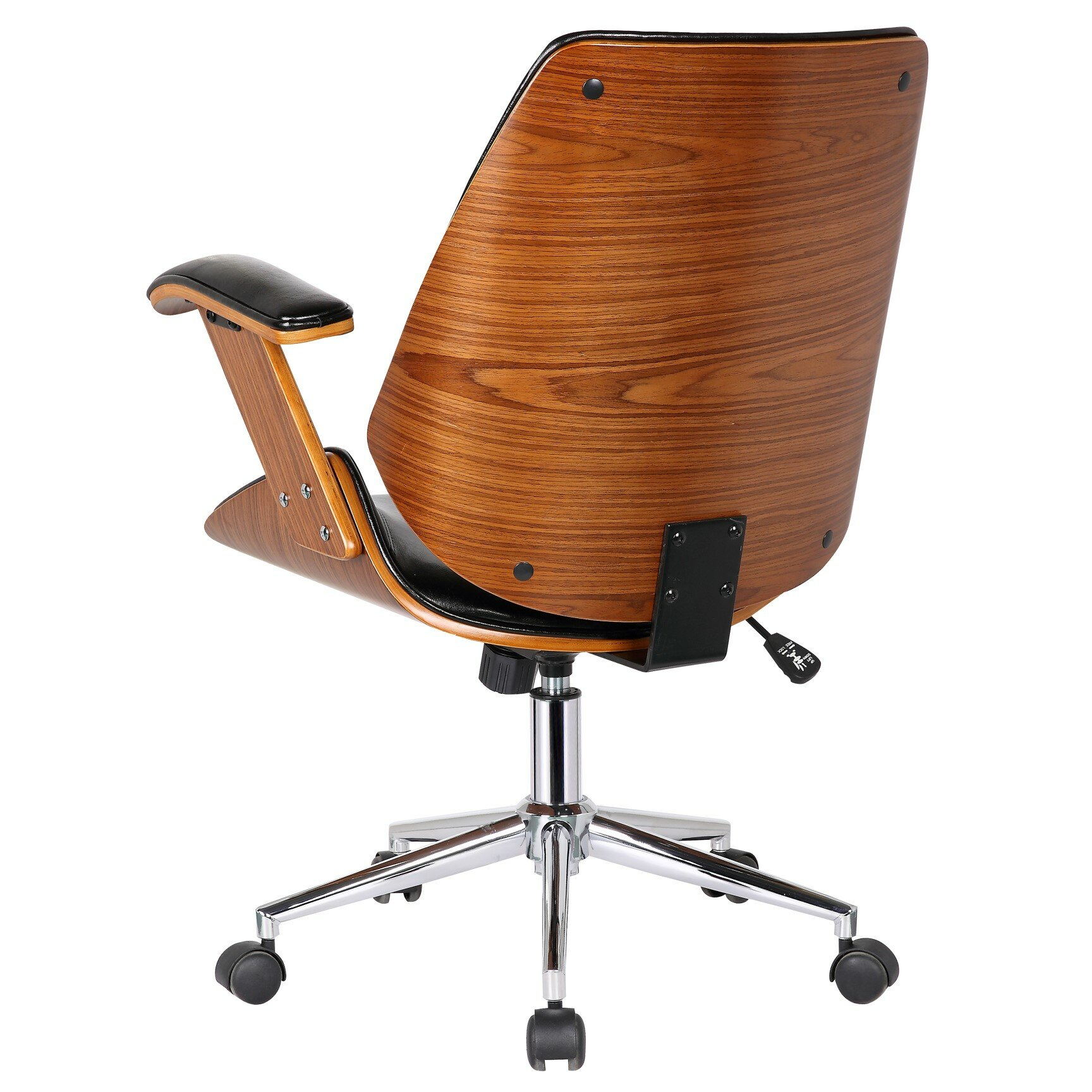 Tan leather office chair - Smythe Mid Back Leather Desk Chair