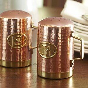 Leona Copper Salt & Pepper Shakers
