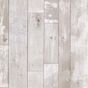 "Heim 33' x 20.5"" Wood 3D Embossed Wallpaper"