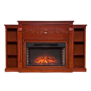 Emerald Bookcase Electric Fireplace