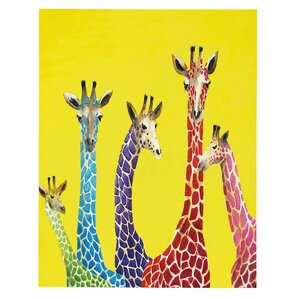 Jellybean Giraffes Canvas Art