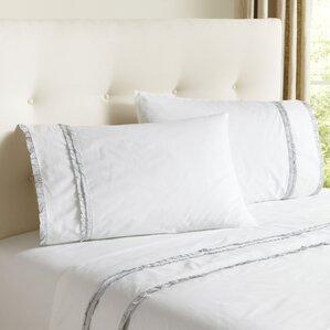Ruffled Cotton Percale Sheet Set