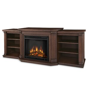 "Valmont 75.5"" TV Stand with Electric Fireplace"
