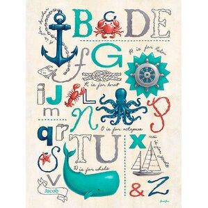 Personalized Nautical ABCs Canvas Art