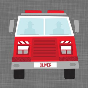 Personalized Ways to Wheel Fire Truck Canvas Art