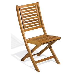Carrie Acacia Patio Side Chair (Set of 2)