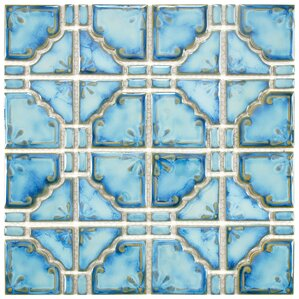 "Levelland 2.85"" x 2.85"" Porcelain Mosaic Tile in Diva Blue"