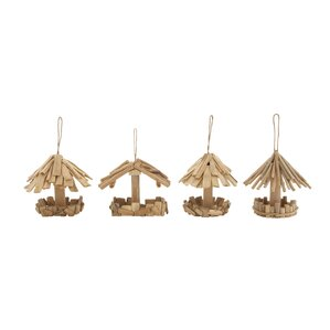 Ivan 4-Piece Decorative Bird Feeder Set