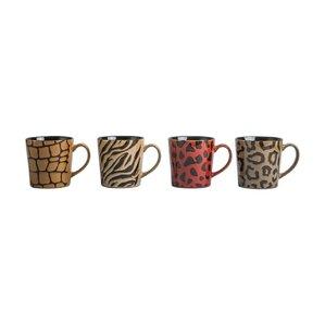4 Piece Animal Print Fashion Mug Set (Set of 4)