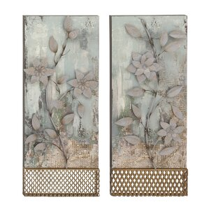2 Piece Floral Wall Decor Set