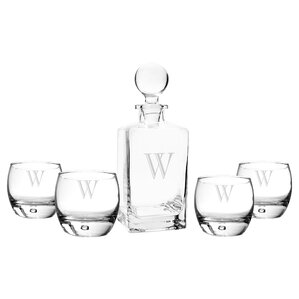 5-Piece Personalized Decanter Set