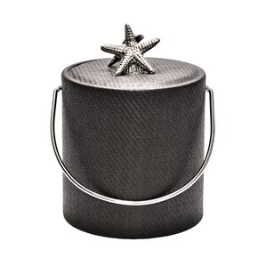 3 Qt. Wicker Ice Bucket with Shell Knob