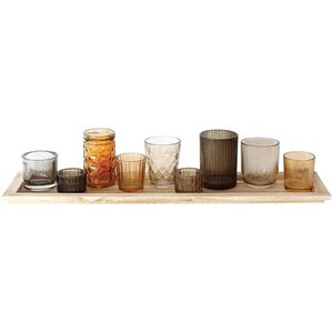 10-Piece Valerie Candleholder & Tray Set