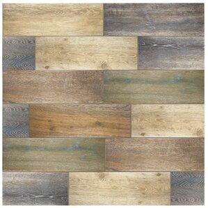 "Alcazar 23.63"" x 7.88"" Ceramic Wood Tile in Antic"