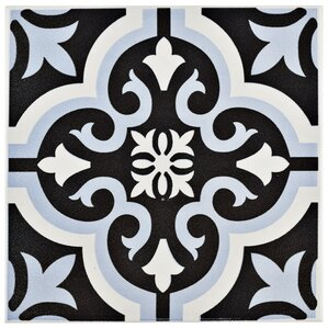 "Tamara 7.75"" x 7.75"" Ceramic Field Tile in Blue"