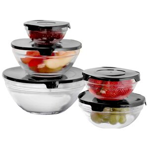 Joyce 10-Piece Glass Lidded Bowl Set