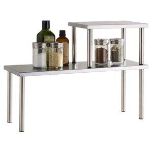 2-Piece Stainless Steel Shelf Set