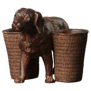 Dog & Basket Pen Holder
