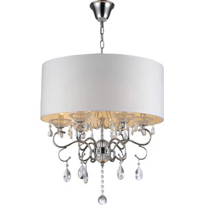 Elise 6-Light Crystal Chandelier