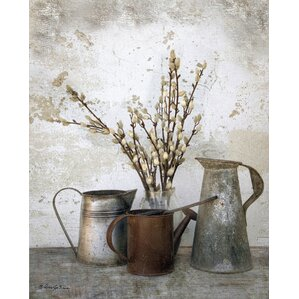 Three Watering Cans Canvas Print
