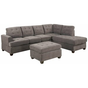 """Nolan 108"""" Reversible Chaise Sectional"""