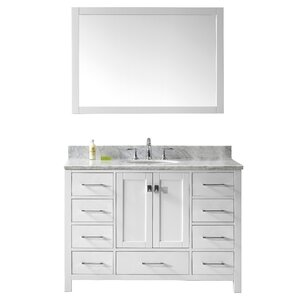 "Gwyneth 2-Piece 49"" Single Vanity & Mirror Set"