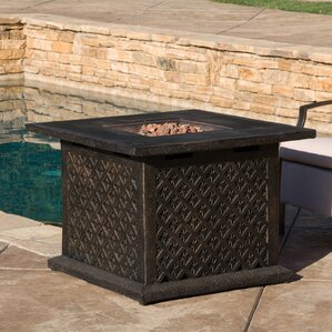 Teresa Metal Propane Fire Pit Table