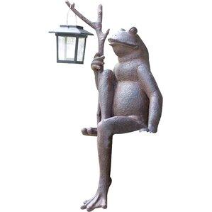 Sitting Frog Solar Lantern