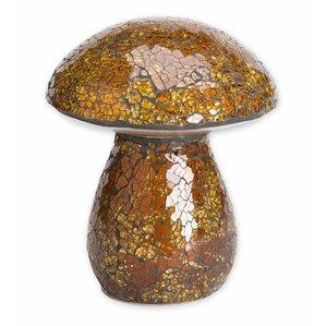 Mosaic Mushroom Light-Up Garden Statue