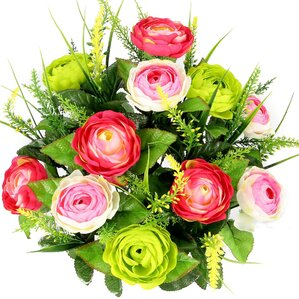 Higgs Faux Ranunculus and Fillers Mixed Flowers Bush