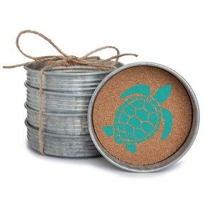 Sea Turtle Mason Jar Coaster (Set of 4)