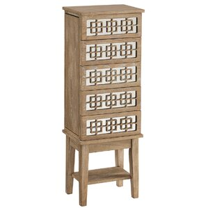 Sally Mirrored Jewelry Armoire