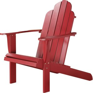 Lacey Adirondack Chair in Red