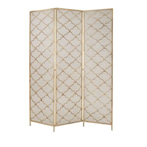 """Kayla 79"""" H x 57"""" W Metal Wired 3 Panel Room Divider"""
