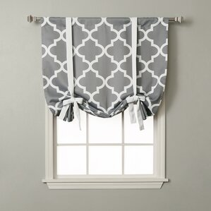 Quatrefoil Rod Pocket Tie-Up Curtain Panel