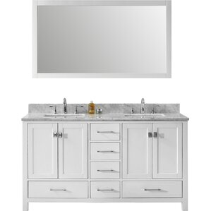 "Gwyneth 2-Piece  60"" Double Vanity & Mirror Set"