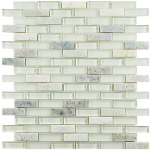 "Sienna  0.5"" x 1.875"" Glass & Stone Tile"